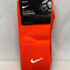 NIKE Classic Cushioned Knee Socks Soccer Orange
